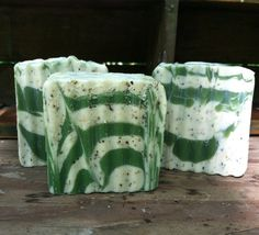 Two Peppermint & Tea Tree Essential Oil Soaps by GreenBeanSoapCo, $8.50
