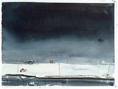 LARS LERIN, Akvarell, signerad och daterad med dedikation 16.11 -97.