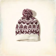 Intarsia Pattern Beanie; This one pom-pom beanie from Hollister is way cuter!