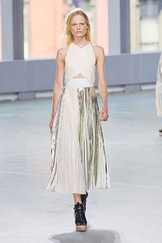 Proenza Schouler Spring 2014 | Metallics is a big trend for spring 2014