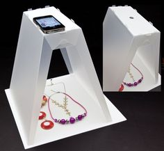 Make a stand for your phone, to photograph your jewelry. Great if your smart phone is the best camera you have!