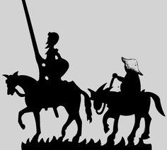 Sombra del Quijote y Sancho