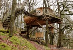 Picture of the Living-room holiday treehouse (tree houses) in Mid west Wales Near Machtynlleth, Powys. Treehouse (tastic) by Giles W Bennett on 500px