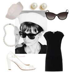 How To Dress Like Audrey Hepburn – Clothing Combinations Audrey Hepburn Style, Black White Red, Outfit Combinations, Fashion Looks, Glamour, Elegant, Stylish, Polyvore, How To Wear