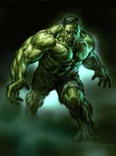 The Hulk by Andy Park - Marvel Comics. Hulk Marvel, Ms Marvel, Marvel Comics Art, Marvel Heroes, Marvel Characters, Captain Marvel, Captain America, Comic Art, Hulk Comic