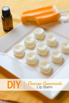 "Orange Creamsicle Lip Balm with doTERRA Wild Orange Essential Oil: ""Wild Orange essential oil and vanilla extract combine to make this dreamy Creamsicle flavor a hit for your lips. Doterra Wild Orange, Wild Orange Essential Oil, Vanilla Essential Oil, Homemade Lip Balm, Diy Lip Balm, Homemade Butter, Homemade Gifts, Belleza Diy, Tips Belleza"