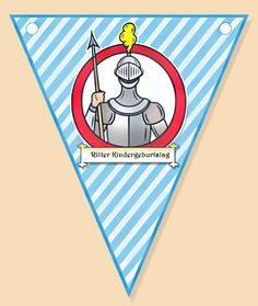 Bastelideen zum Ritter Geburtstag: Vorlagen zum Ausdrucken, Basteleinleitung, - Татьянин День Открытки Knight, Maximilian, Birthday, Templates, Do Crafts, Middle Ages, Birthdays, Cavalier, Birth Day