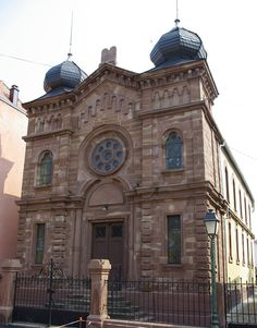 Synagogue between the border of Germany and France Synagogue Architecture, Religious Architecture, Art And Architecture, Jewish Synagogue, Jewish Temple, Temples, Throughout The World, Around The Worlds, Jewish History