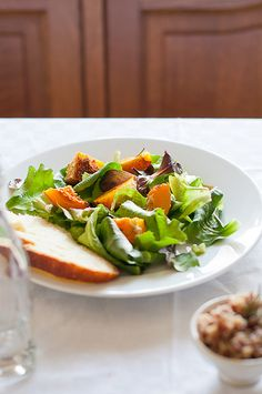Roasted Butternut, Red Rice, Lentils and Mesclun Salad