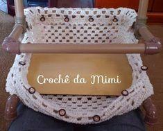 As Receitas de Crochê: Suporte para rolo de barbante feito de canos de PVC Diy Crochet, Diy And Crafts, Creative, Tiana, Crocheting, Hobbies, Crafting, Crochet Tree, Doilies Crochet