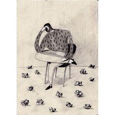 #illustrasjon #illustration #sketch #tegning by skinkeape