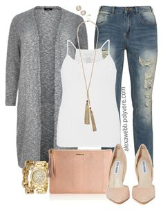 """Plus Size - Casual Chic"" by alexawebb ❤ liked on Polyvore featuring ZJ Denim Identity, maurices, GUESS, J.Crew, Michael Kors, GiGi New York, Steve Madden, Melinda Maria, outfit and plussize"