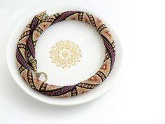 Bead Crochet Necklace East Rose by Chudibeads on Etsy, $125.00