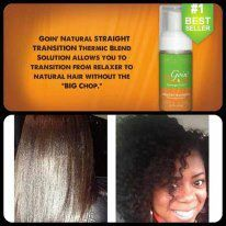 "#GoinNatural #STRAIGHT #TRANSITION Thermic Blend Solution allows you to transition from relaxer to natural hair without the   ""BIG Chop."" $29.99  Great   for Curl Stretching, Curling, & Flat Ironing!"