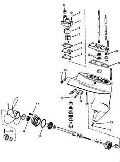 Johnson gearcase parts for 1976 6hp 6r76a outboard motor boat johnson outboard drawing fandeluxe Image collections