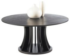 Aziz Round Coffee Table, Espresso modern coffee tables