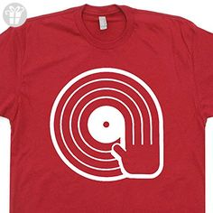 YOUTH S - Cool DJ T Shirts Funny Vintage Record Player Graphic Tees - Funny shirts (*Amazon Partner-Link)