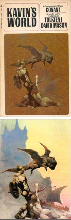 FRANK FRAZETTA - Kavin's World - David Mason - 1969 Lancer Books - print/cover by ripjaggerdojo.blogspot.com