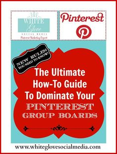 The Ultimate How-To Guide To Dominate Your #Pinterest Group Boards   NEW RULES YOU NEED TO KNOW:About a couple of weeks after posting this blog the RULES have changed again – probably for the third time! You must be following each other to be invited as a board contributor.✭Pinterest Consultant Vancouver✭