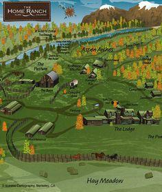 The Home Ranch brochure Map © Eureka Cartography, Berkeley, CA