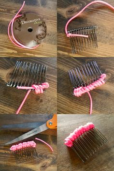 10 ways to embellish a simple hair comb
