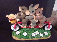 Charming Tails BICYCLE BUILT FOR FRIENDS 98/253 Rabbit Squirrel Snail Mouse
