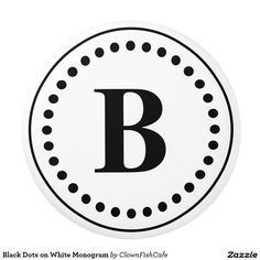 Black Dots on White Monogram Ceramic Knob - This ceramic pull features a circle of black dots around a customizable black letter monogram. http://www.zazzle.com/black_dots_on_white_monogram_ceramic_knob-256308353581339529?rf=238083504576446517&tc=pint