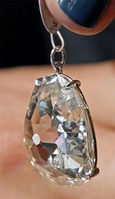 Jewelry Diamond : The Beau Sancy a 34.98 carat diamond which is 400 years old