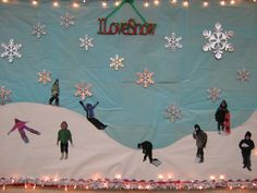 i want to take pictures of the kids in the snow, then have them write about what they like to do/have done in the snow