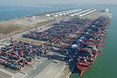 Aeroview Rotterdam Container Ports