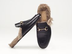 gucci fur lined loafers