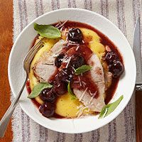 Balsamic-Cherry Braised Pork (slow cooker)Skip polenta and cheese - can be adoptable