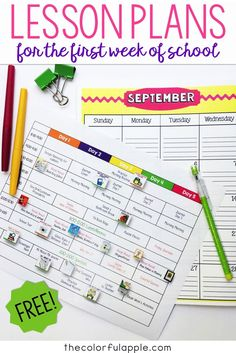 A Full Week Of Back To School Lesson Plans For Free Includes All