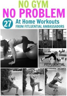 27 At Home Workouts to Try - FitFluential - Fitness Little Fitness Workouts, Toning Workouts, Fitness Goals, Fun Workouts, At Home Workouts, Fitness Tips, Fitness Plan, Muscle Workouts, Workout Circuit