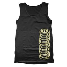 Bitcoin Cryptocurrency Coin Stack Mens Tank Top #bitcoin #bitcoins #btc #crypto #cryptocurrency #blockchain #bitcoinbillionaire #money #ethereum #bitcoinmining #technology