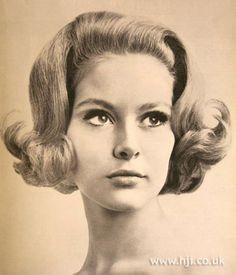 1967 bob wave hairstyle        Hairstyle by: Anne Fairbairn  Salon: Elizabeth Arden Salon  Location: London