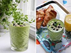 Ellan reseptit: Vihreää lasissa Lassi, Omelette, Overnight Oats, Juices, Breakfast, Health, Ethnic Recipes, Drinks, Food