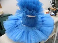 Making a Tutu Step 9: Once all the layers have been sewn on, we tie-up the top three layers so that we can insert the hoop into the 4th layer Oregon Ballet Theatre: News from the Costume Shop...
