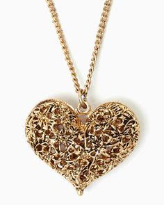 charming charlie | 3D Filigree Heart Pendant | UPC: 410006776432 #charmingcharlie