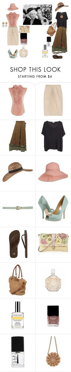 """Clairee & Oiusa - Steel Magnolias"" by historychick ❤ liked on Polyvore featuring L'Wren Scott, Gucci, Surface To Air, Helen Kaminski, Dorothy Perkins, Badgley Mischka, Old Navy, Valentino, Jean-Charles Brosseau and Demeter Fragrance Library"
