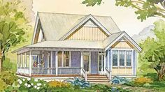 Looking for the best house plans? Check out the Cove Cottage plan from Southern Living. The Plan, How To Plan, Cottage Floor Plans, House Floor Plans, Country Farmhouse Decor, Farmhouse Plans, Southern Farmhouse, Best House Plans, Small House Plans