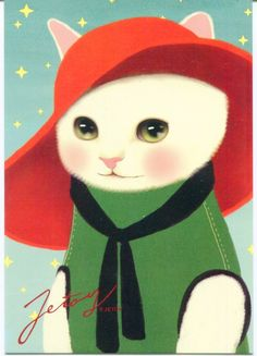 Image 0 of Korea Jetoy Choo Choo Cat Postcard #32 (PO0032)