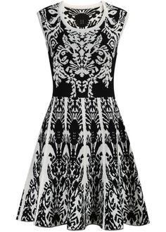 Black Sleeveless Vintage Floral Knit Dress 26.00