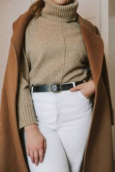 Shop Your Screenshots™ with LIKEtoKNOW.it, a shopping discovery app that allows you to instantly shop your favorite influencer pics across social media and the mobile web. Camel Coat, Daily Look, White Jeans, Knitwear, Neutral, Turtle Neck, Shop My, Europe, Pairs