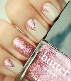 20 Amazing Short Nail Designs You Must Love: #12. Beautiful Pink Shimmer Nail Art