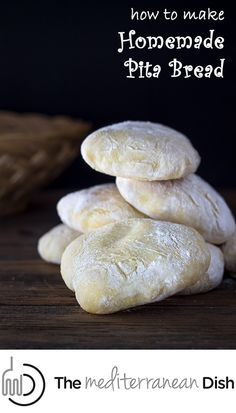 Learn how to make pita bread at home! Step-by-step photo instructions from The Mediterranean Dish.