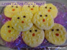 Party Food to Go:  Easter Chick Cookies