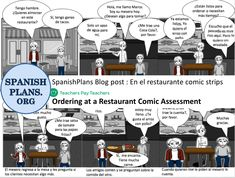 Idea: comic strip w/ speech bubbles. Fill in the blank as they learn new vocabulary. Coca Cola, Writing Assessment, Spanish Food, Life Skills, Comic Strips, Teaching Resources, Vocabulary, Bubbles, Learning