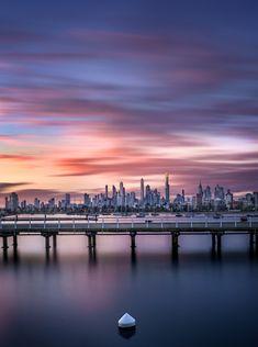 Sunset at St Kilda Beach, Melbourne