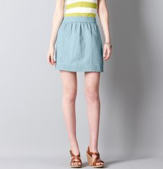 Loft - LOFT Skirts - Denim Chambray Mini Skirt #LOFTSummerGetaway